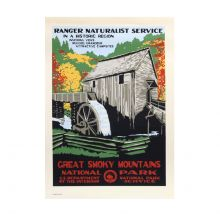 WPA Great Smoky Mountains National Park Retro Poster - Cable Mill
