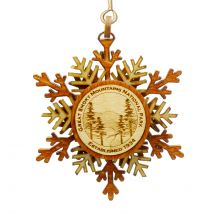 Great Smoky Mountains National Park Snowflake Ornament