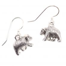 Silver Bear Earrings
