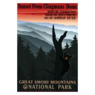 WPA Great Smoky Mountains National Park Retro Poster - Sunset from Clingmans Dome